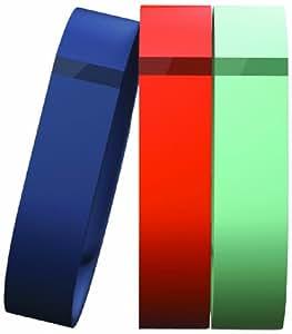 Fitbit Flex Lot de 3 bracelets accessoires Bleu Marine/Turquoise/Mandarine S