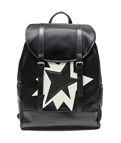 wiberlux-neil-barrett-mens-star-patch-flap-top-backpack-one-size-black-and-white