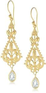 Eddera Jewelry Oberoi Blue Earrings