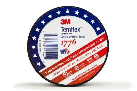 Temflex 1776 Vinyl Electrical Tape - 3/4Inch X 60Foot With Double Sided Foam Tape