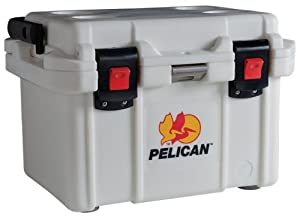 Pelican 20 Qt. Polyethylene Elite Cooler, Marine White 32-20Q-MC-WHT by Pelican