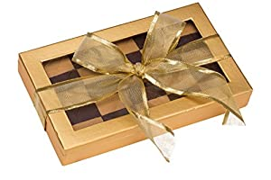 Call Me Nuts- Kosher Chocolate Checkerboard Fresh Roasted Peanut Chews, Gold Gift Tray, Box Platter Perfect for Thanksgiving, Christmas, Chanukah and Everyday Snacks