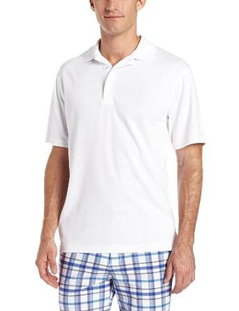 PGA TOUR Mens Airflux Solid Polo Shirt Small Bright white