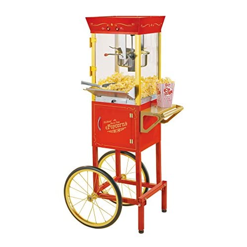 Nostalgia CCP510 53-Inch Tall Vintage Collection 6-Ounce Kettle Popcorn Cart