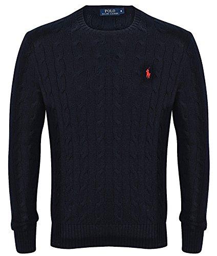 ralph-lauren-da-uomo-maglione-girocollo-a-maglia-vari-colori-s-xxl-black-medium
