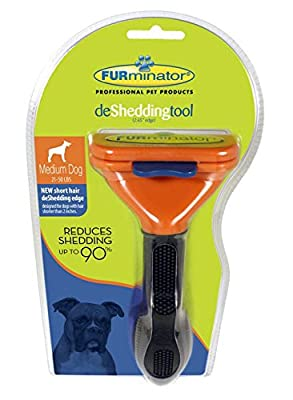 "Furminator Deshedding Brush Tool for Medium Dogs, shorter than 2"" Long, Blade Edge 2.65"""