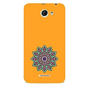 Skin4gadgets Artistically Drawn Mandala Tattoo In Pastel Colors -Orange, No.7 Phone Skin for DESIRE 516 (ONLY BACK)