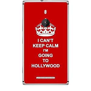 Skin4gadgets I CAN'T KEEP CALM I'm GOING TO HOLLYWOOD - Colour - Red Phone Skin for NOKIA LUMIA 925