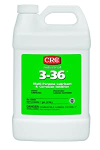 CRC 3-36 Multi-Purpose Lubricant and Corrosion Inhibitor, 1 Gallon Bottle, Clear/Blue/Green by CRC Industries