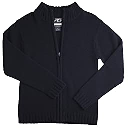 French Toast Zipper Front Sweater Boys Navy 8
