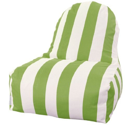 Majestic Home Goods Kick-It Chair, Vertical Stripe, Sage front-695285