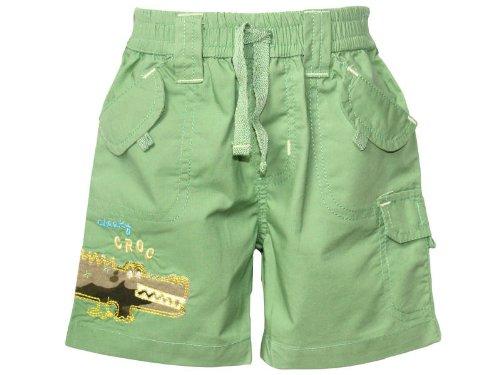 Minoti Baby Boys Green 'Cheeky Croc' Bermuda Shorts - 6-12 Months
