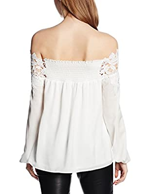 Lipsy Women's Lace Trim Bardot Blouse