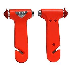 2 pack Seatbelt Cutter Window Breaker Emergency Escape Tool