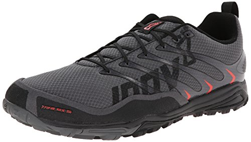 Inov-8 Men's Trailroc 255 Trail Running Shoe,Grey/Black/Red,10.5 W US
