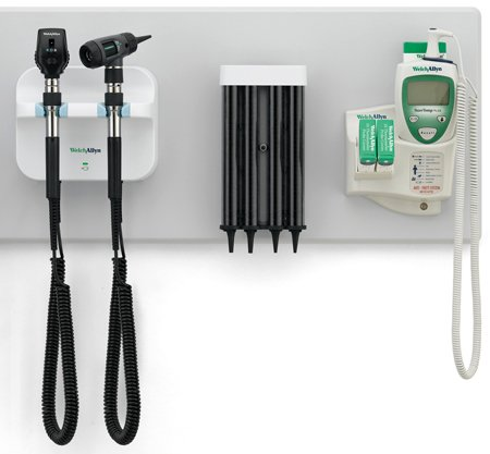 welch-allyn-gs-777-wall-transformer-with-coaxial-ophthalmsocope-macroview-otoscope-kleenspec-specula