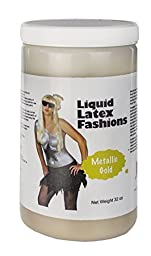 Ammonia Free Liquid Latex Body Paint - 32oz Metallic Gold