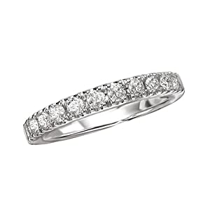 14K White Gold 1/2 ct. Stackable Diamond Band