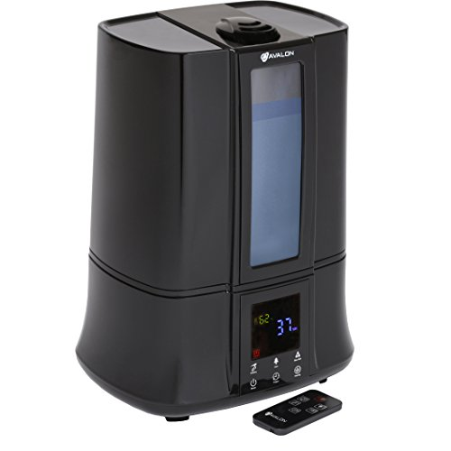 Avalon Ultrasonic Warm/Cool Mist Germ Free Digital Humidifier with Remote, Black (Humidifier No Filter Vicks compare prices)