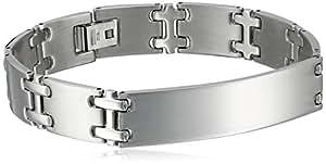 """Men's Stainless Steel High Polish Medical ID Bracelet, 8.5"""""""