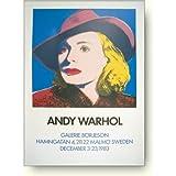 アンディ ウォーホル イングリット バーグマン 1983年(ウィズ ハット) アートポスター