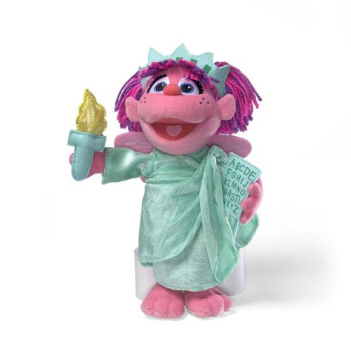 "Gund Sesame Street 13"" Abby Cadabby Statue Of Liberty Plush Doll"