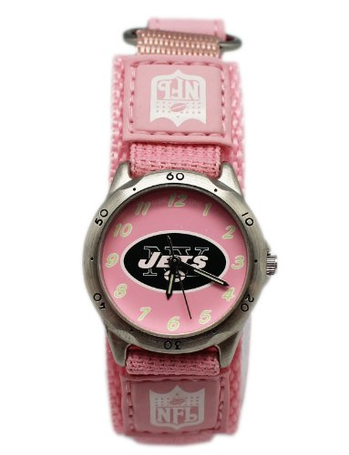 NFL Pink Breast Cancer Awarness New York Jets Velcro Strap Watch at Amazon.com