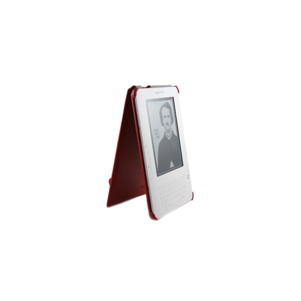 (Red) Mivizu Sleek  Kindle 2 Leather case cover for Kindle 2.0 eBook reader