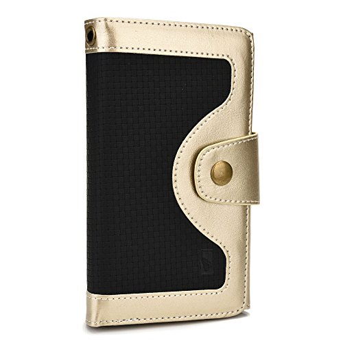 Click to buy Cooper Cases(TM) Tatami Universal Lenovo Vibe X S960 / X2 / X2 Pro / Z2 / Shot Smartphone Wallet Case in Gold and Black (Woven Pattern, Screen Protector, Card Slots, ID Holder, Billfold) - From only $62.95