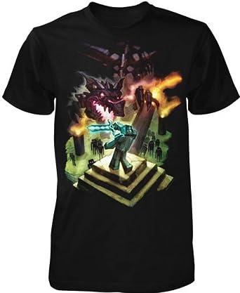 Jinx Minecraft Enderdragon Youth Black T-shirt 6133fa080025