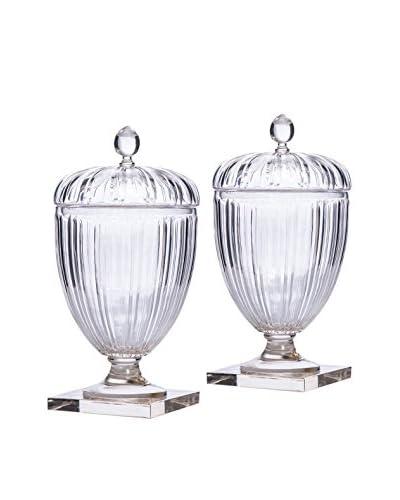 Pair of Franz Ripple Jars