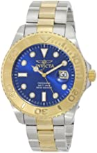 Invicta Sea Hunter Men's Quartz Watch with Blue Dial  Analogue display on Multicolour Stainless Steel Bracelet 15181
