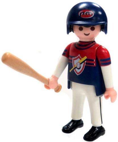 Playmobil Fi?ures Series 4 LOOSE Mini Figure Baseball Player by Series 1 Blue
