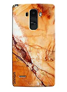 Omnam Marble Effect With Yellowish Shade Printed Designer Back Cover Case For LG G4 Stylus