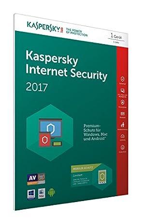 Kaspersky Internet Security 2017 + Kaspersky Internet Security für 1 Android Gerät [Online Code] (Frustfreie Verpackung)
