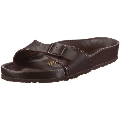 Birkenstock Madrid Smooth Leather, Style-No. 340821, Unisex Clogs, D-Brown Braid, EU 39, normal width
