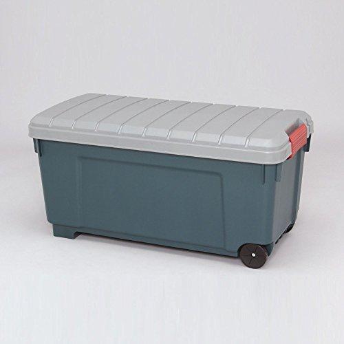 キャンプ 収納ボックス 車の荷台 便利アイテム RVBOX グレー/ダークグリーン 2点セット