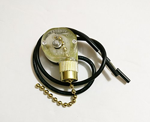 Zing Ear Ceiling Fan Light Lamp Replacement Pull Chain Switch ZE-109 (Ceiling Fan Light Nut compare prices)