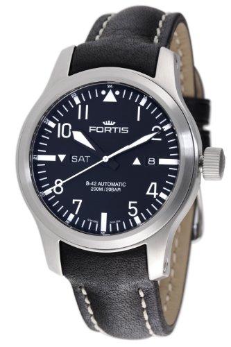 Fortis Men's 655.10.11L.01 B-42 Flieger Automatic Black Dial Watch