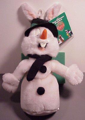 warner-bros-bean-bag-plush-bugs-bunny-as-snowman-by-warner-bros