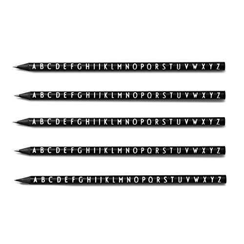 Design Letters Bleistift Stationary 5er-Set, schwarz