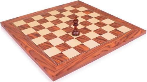 Rosewood & Maple Chess Board - 2 3/8
