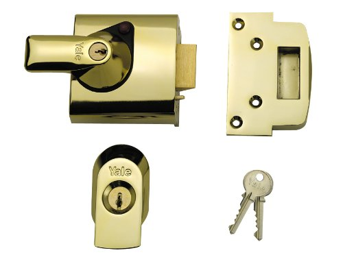Yale Locks BS1 Nightlatch British Standard Security Lock 60 mm Chrome Finish Visi Pack