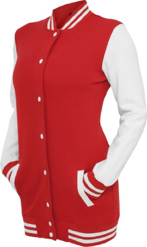 Urban Classics -  Giacca  - Donna Red/Wht M