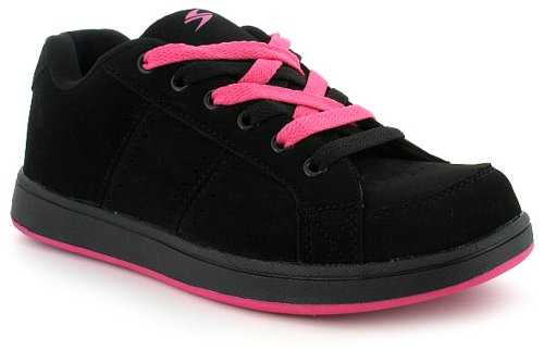 Womens/Ladies Black Lace Up Skate Style Shoes/Trainers.