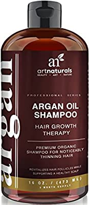 Art Naturals® Organic Argan Oil Hair Loss Shampoo for Hair Regrowth 16 Oz - Sulfate Free - Best Treatment for Hair Loss, Thinning & Aging - Product For Men & Women - Infused with Biotin - 2016 Edition