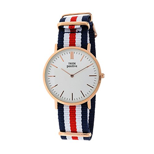 ladies-think-positiver-model-se-w92-watch-large-flat-rose-strap-of-cordora-color-blue-white-red