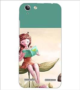 PrintDhaba Reading Girl D-2657 Back Case Cover for LENOVO LEMON 3 (Multi-Coloured)
