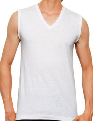 (グンゼ)GUNZE 【the GUNZE】 Vネックスリーブレスシャツ2枚組 【STANDARD basic】 CK9018P 03 ホワイト L
