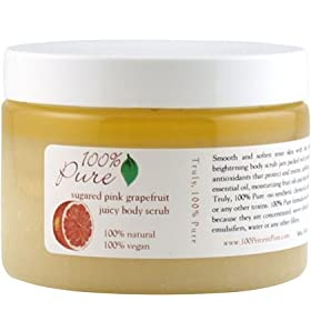 100% Pure Organic Nourishing Body Scrub -Sugared Pink Grapefruit - 13 oz. (Quantity of 2) by Grapefruit